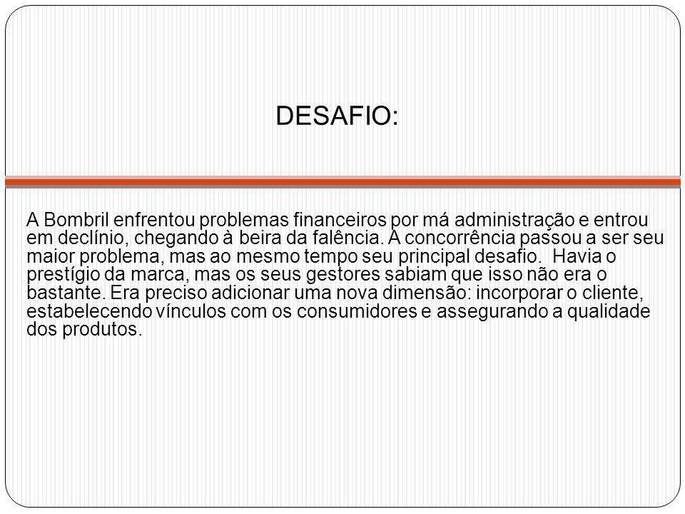 DESAFIO: A Bombril enfrentou problemas financeiros por má administração e entrou em declínio, chegando à beira da falência. A concorrência passou a se