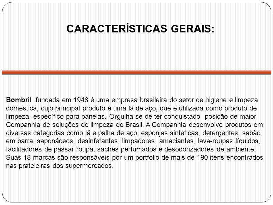 Bombril fundada em 1948 é uma empresa brasileira do setor de higiene e limpeza doméstica, cujo principal produto é uma lã de aço, que é utilizada como