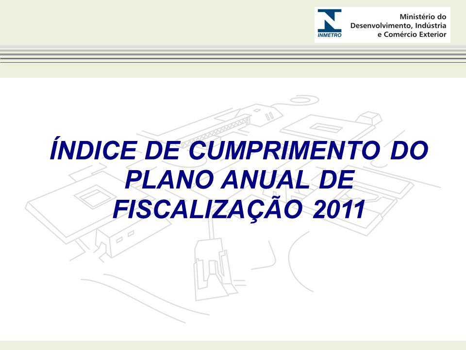ÍNDICE DE CUMPRIMENTO DO PLANO ANUAL DE FISCALIZAÇÃO 2011 - GOIÁS