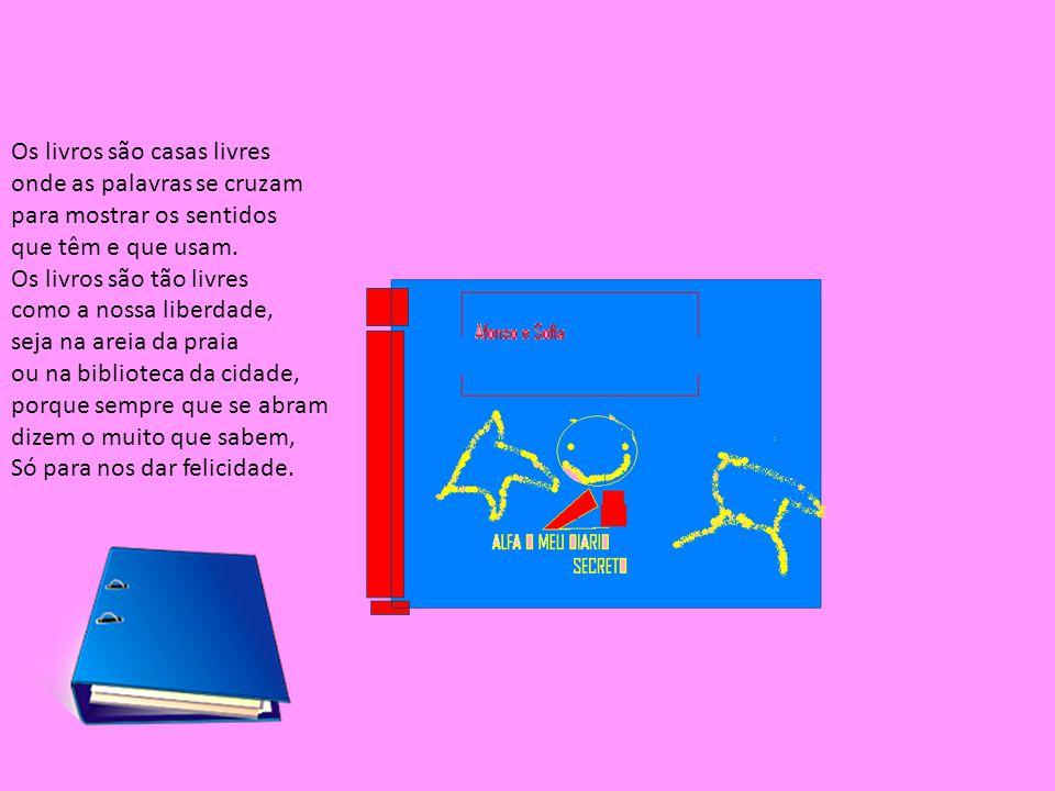 Os livros são casas livres onde as palavras se cruzam para mostrar os sentidos que têm e que usam.