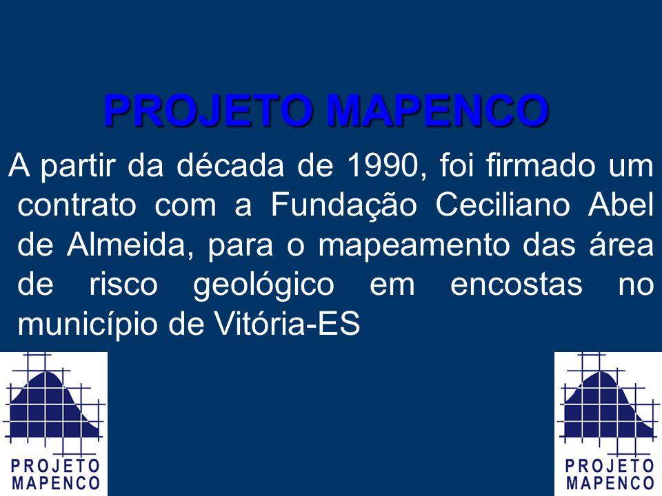A partir da década de 1990, foi firmado um contrato com a Fundação Ceciliano Abel de Almeida, para o mapeamento das área de risco geológico em encosta