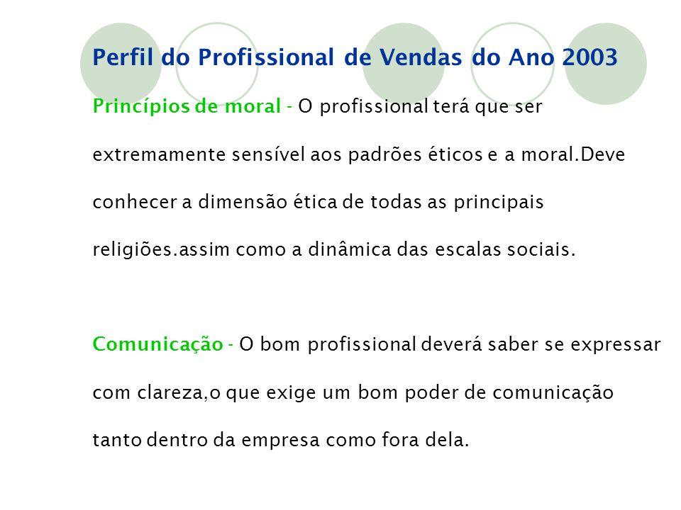 Princípios de moral - O profissional terá que ser extremamente sensível aos padrões éticos e a moral.Deve conhecer a dimensão ética de todas as princi