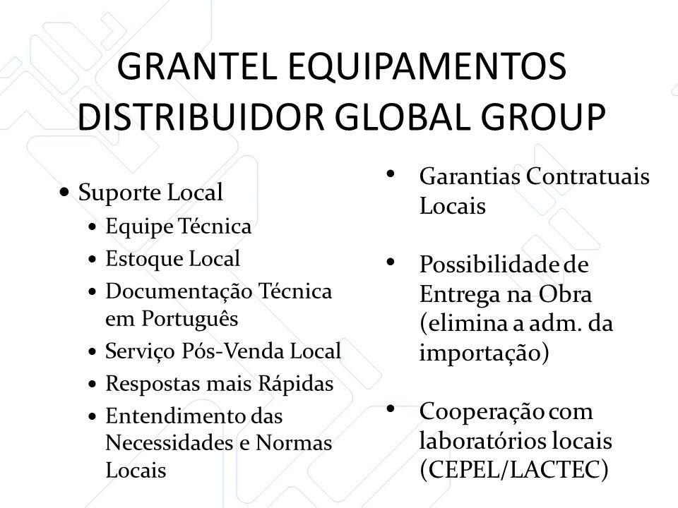 GRANTEL EQUIPAMENTOS DISTRIBUIDOR GLOBAL GROUP  Suporte Local  Equipe Técnica  Estoque Local  Documentação Técnica em Português  Serviço Pós-Vend