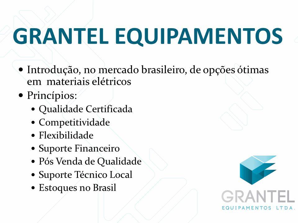  Introdução, no mercado brasileiro, de opções ótimas em materiais elétricos  Princípios:  Qualidade Certificada  Competitividade  Flexibilidade 