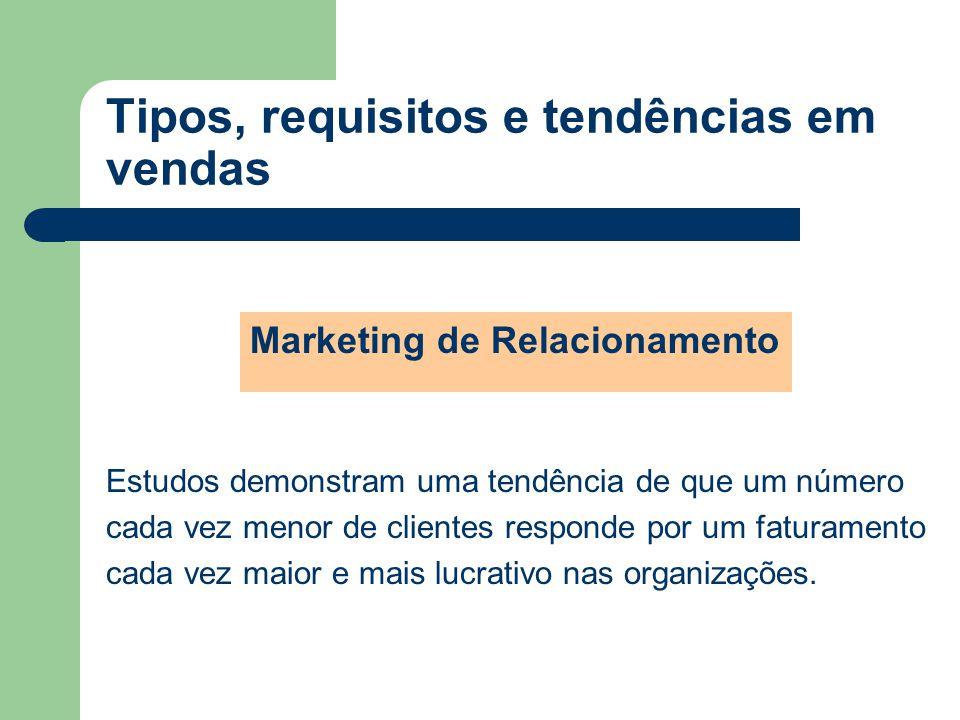 Marketing de Relacionamento Estudos demonstram uma tendência de que um número cada vez menor de clientes responde por um faturamento cada vez maior e mais lucrativo nas organizações.
