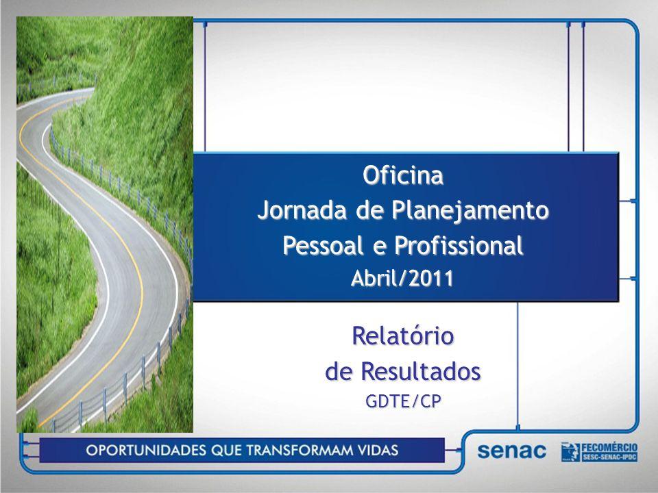 Oficina Jornada de Planejamento Pessoal e Profissional Abril/2011 Relatório de Resultados GDTE/CP