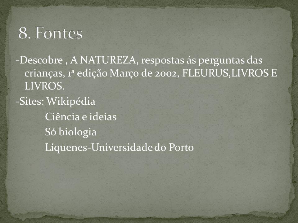 -Descobre, A NATUREZA, respostas ás perguntas das crianças, 1ª edição Março de 2002, FLEURUS,LIVROS E LIVROS.