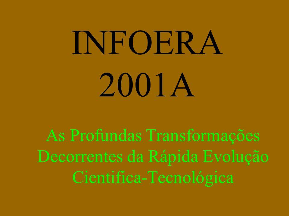 INFOERA 2001A As Profundas Transformações Decorrentes da Rápida Evolução Cientifica-Tecnológica
