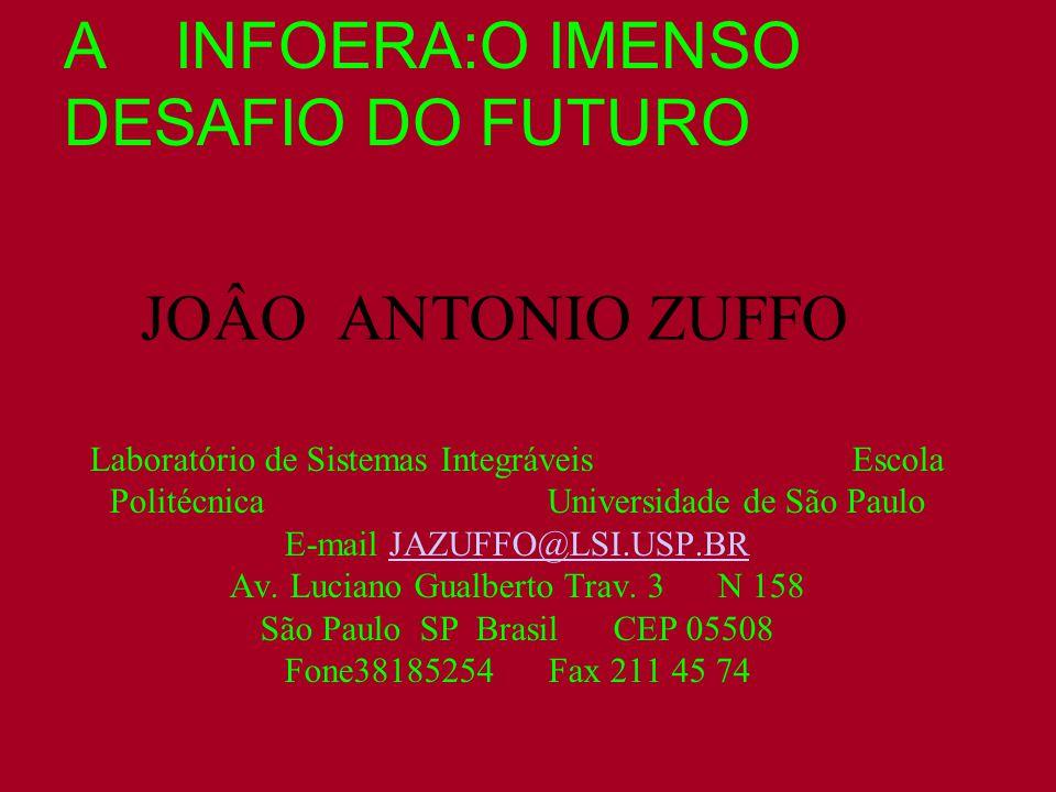JOÂO ANTONIO ZUFFO Laboratório de Sistemas Integráveis Escola Politécnica Universidade de São Paulo E-mail JAZUFFO@LSI.USP.BR Av.