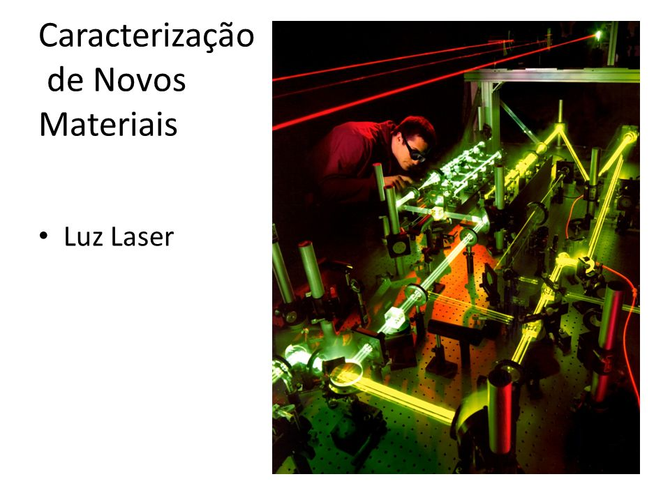 Caracterização de Novos Materiais • Luz Laser