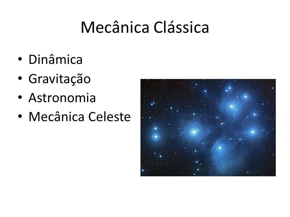Mecânica Clássica • Dinâmica • Gravitação • Astronomia • Mecânica Celeste