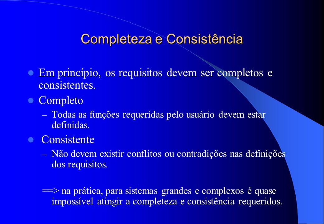 Imprecisão de requisitos  Problemas podem se originar da imprecisão na especificação de requisitos.  Requisitos ambíguos podem ser interpretados de