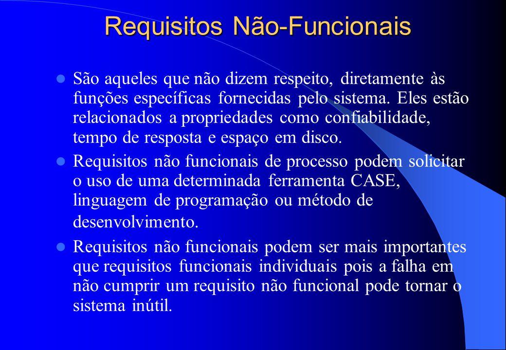 Completeza e Consistência  Em princípio, os requisitos devem ser completos e consistentes.  Completo – Todas as funções requeridas pelo usuário deve