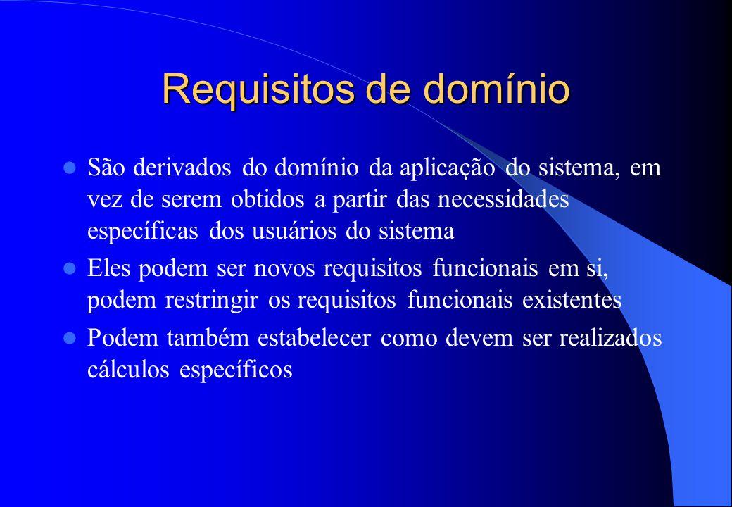 R equisitos Não-Funcionais - exemplos  Requisitos de Produto – Toda entrada de dados deve ser padrão TXT  Requisitos Organizacionais – O processo de
