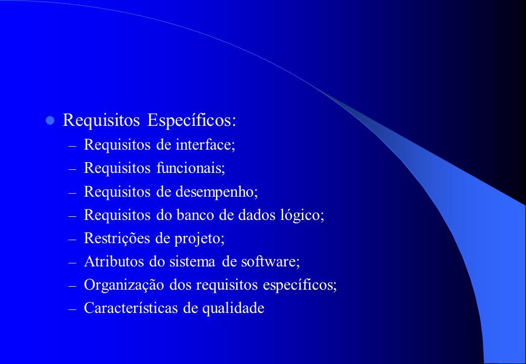 Na Descrição geral: – Descrever os fatores que afetam o produto; – Contexto (produtos relacionados) do produto; – Funções principais que o software de