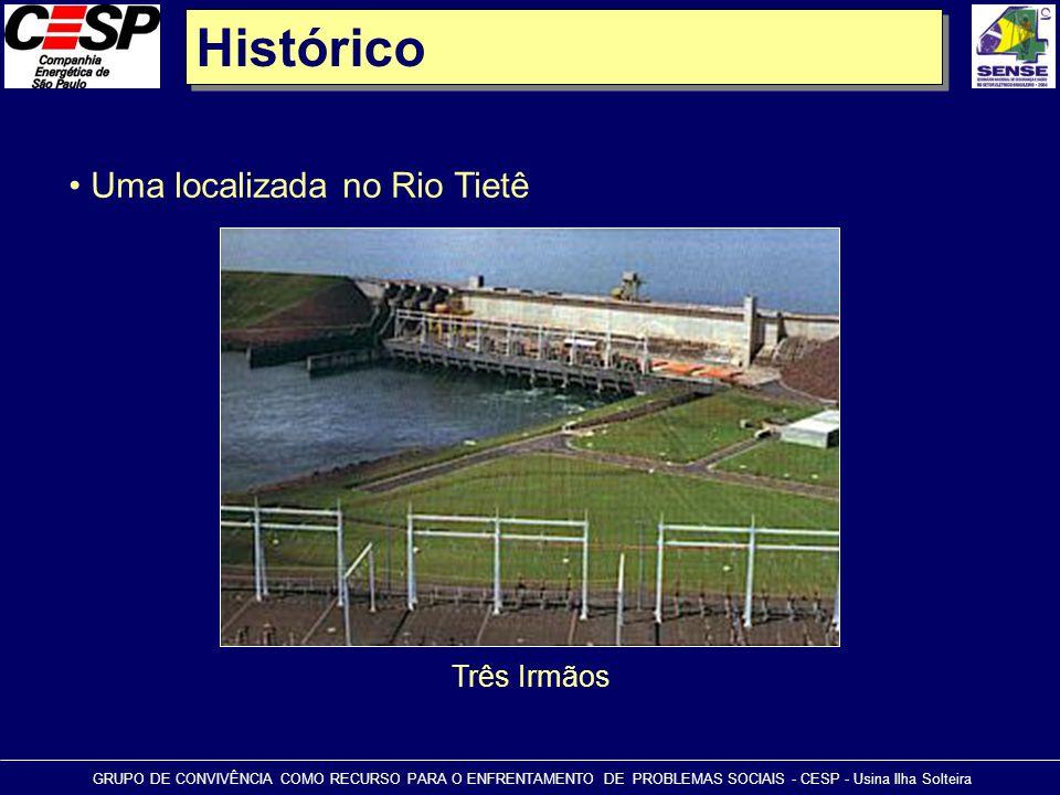 Histórico GRUPO DE CONVIVÊNCIA COMO RECURSO PARA O ENFRENTAMENTO DE PROBLEMAS SOCIAIS - CESP - Usina Ilha Solteira • Uma localizada no Rio Tietê Três