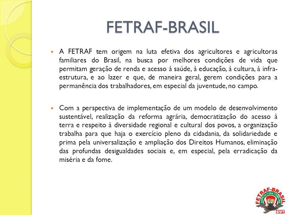 FETRAF-BRASIL  A FETRAF tem origem na luta efetiva dos agricultores e agricultoras familiares do Brasil, na busca por melhores condições de vida que
