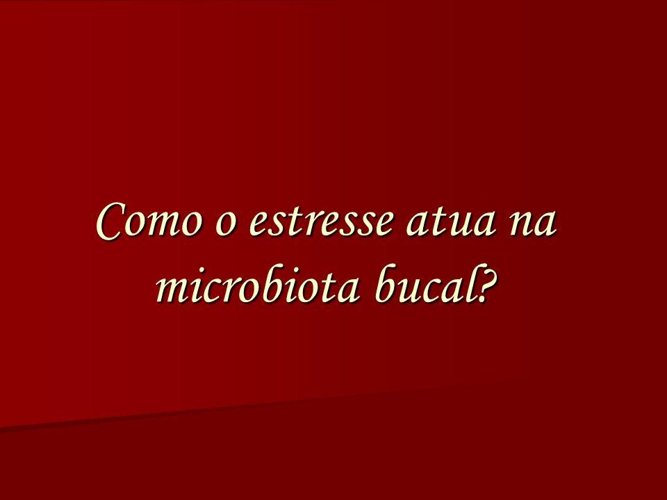Como o estresse atua na microbiota bucal?
