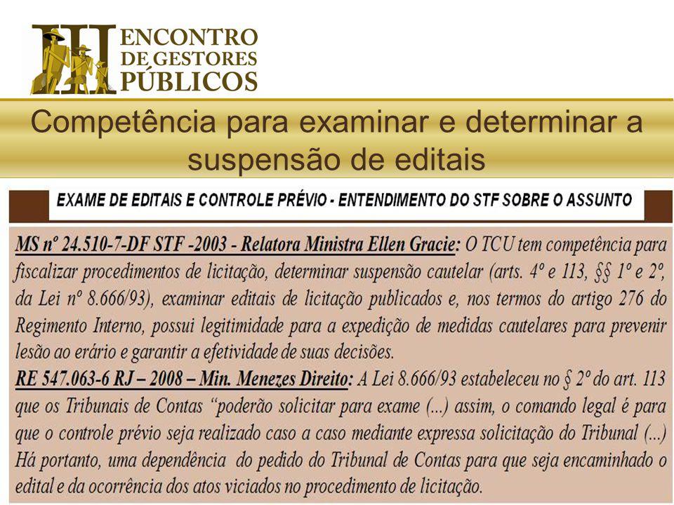 Lei de Licitações: Os Tribunais de Contas (...) poderão solicitar para exame, até o dia útil imediatamente anterior à data de recebimento das proposta