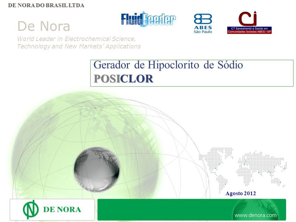 21 CAPACIDADE DE PRODUÇÃO De Nora do Brasil esta preparada para aplicar revestimento anódico e catódico (coating) em até 30/35,000 m2/ano de superfíci