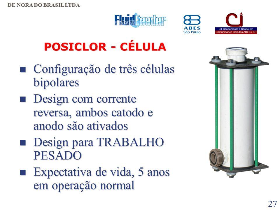 26  Menor número de componentes chaves (célula e retificador);  Maior facilidade de reparo dos componentes chaves;  Avançada Tecnologia de célula (