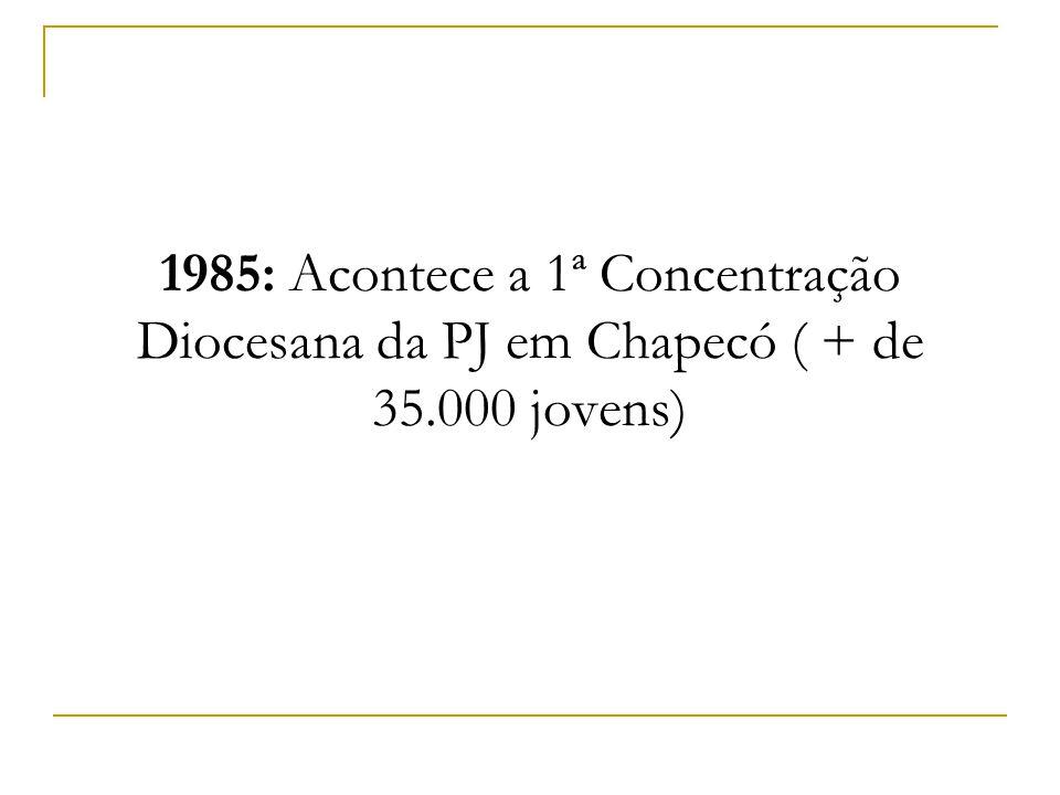 1985: Acontece a 1ª Concentração Diocesana da PJ em Chapecó ( + de 35.000 jovens)