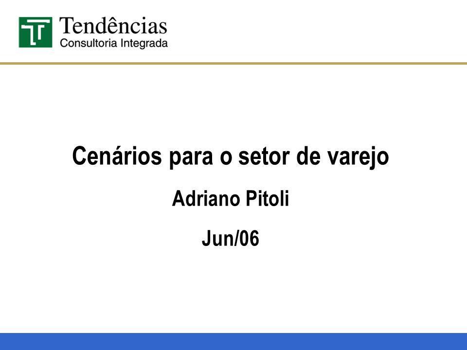 Cenários para o setor de varejo Adriano Pitoli Jun/06