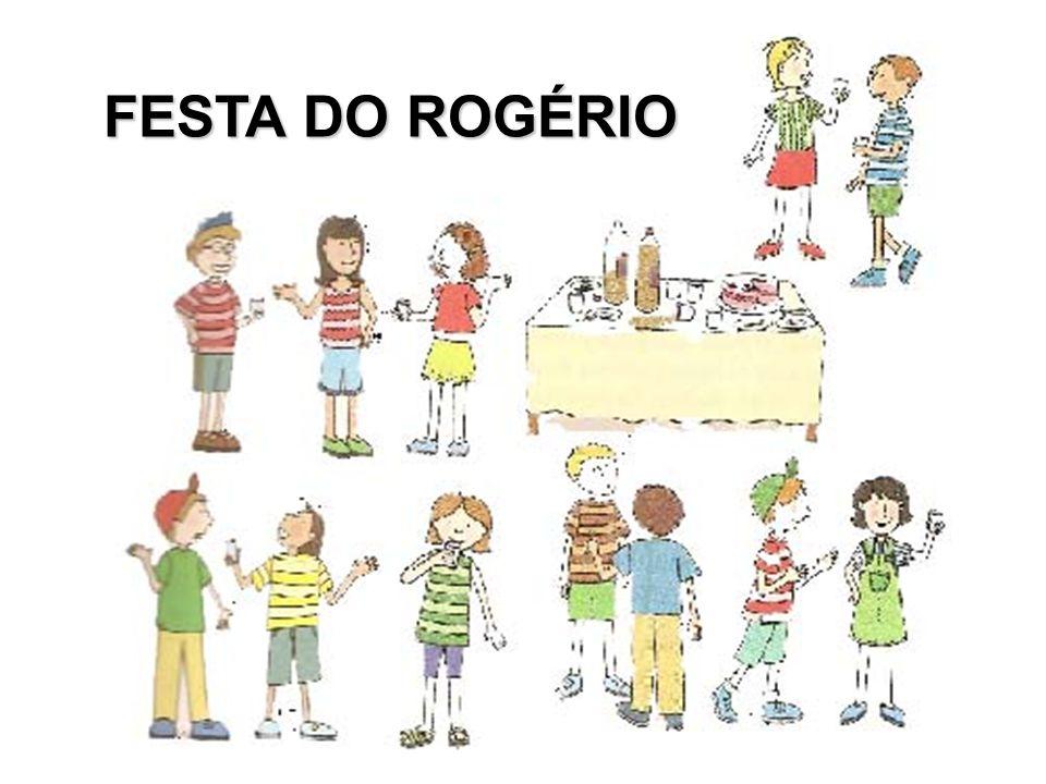 Na festa de aniversário de Rogério, alguém derrubou um copo de refrigerante na mesa.