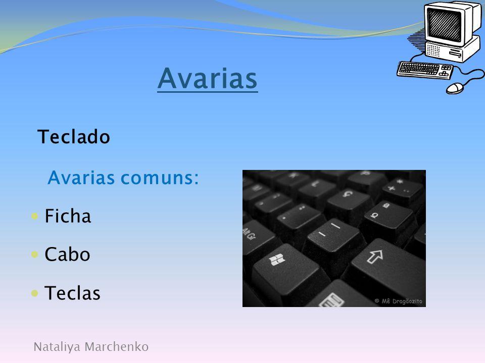 Nataliya Marchenko Avarias Rato Avarias comuns:  Ficha;  Cabo;  Bola;  Botões;  Leitor óptico.