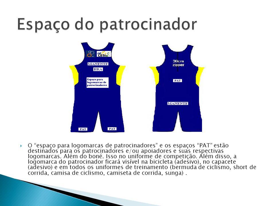 """ O """"espaço para logomarcas de patrocinadores"""" e os espaços """"PAT"""" estão destinados para os patrocinadores e/ou apoiadores e suas respectivas logomarca"""