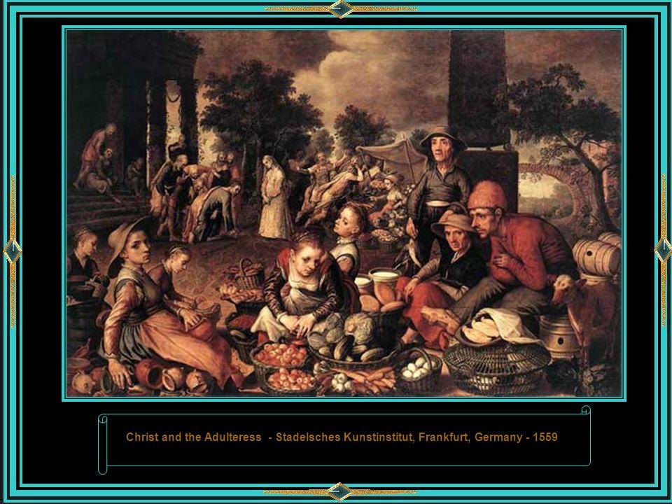 Market Scene – Alte Pinakothek, Munich, Bavaria, Germany, 1550