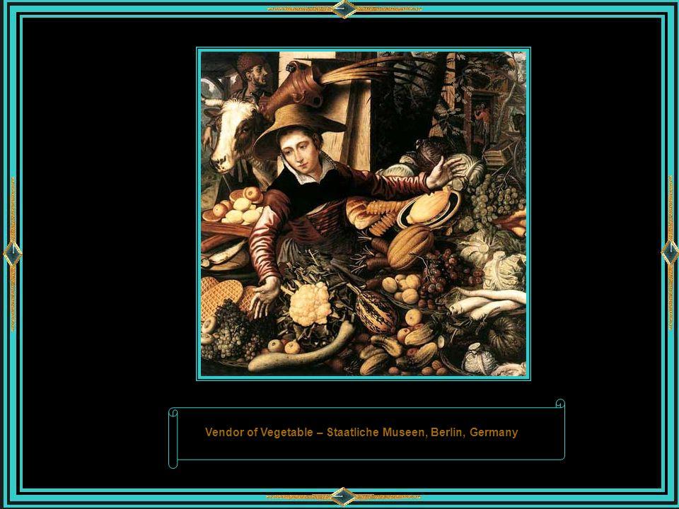 PIETER AERTSEN Amsterdã, c. 1508 - 1575 Pieter Aertsen foi um pintor holandês que atuou em sua terra natal, e em Antuérpia, sendo chamado de