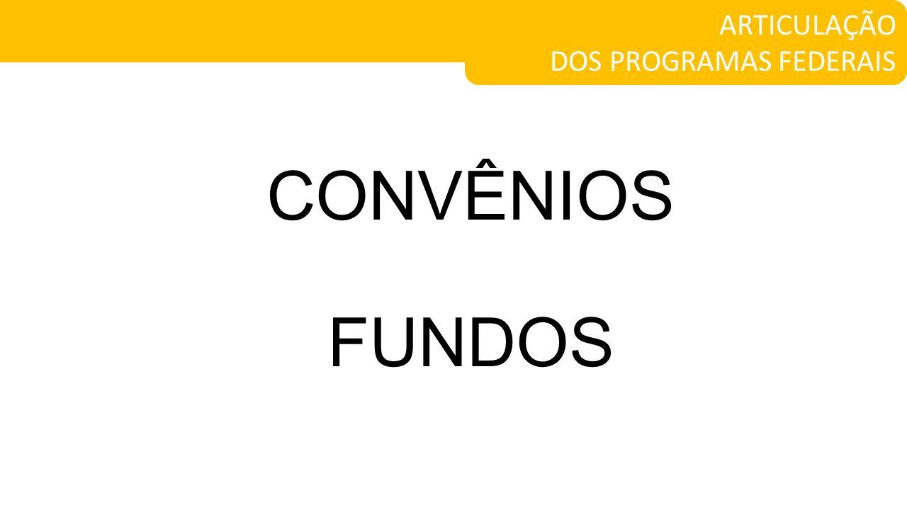 ARTICULAÇÃO DOS PROGRAMAS FEDERAIS CONVÊNIOS FUNDOS