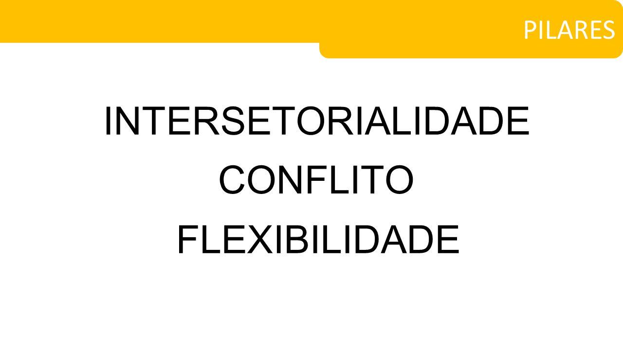 INTERSETORIALIDADE PILARES CONFLITO FLEXIBILIDADE