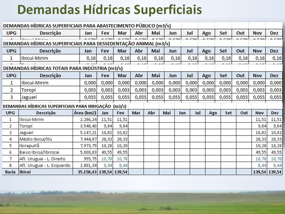 Demandas Hídricas Superficiais