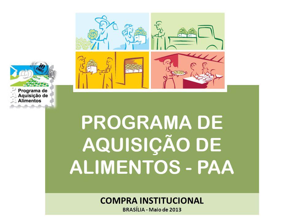 COMPRA INSTITUCIONAL BRASÍLIA - Maio de 2013