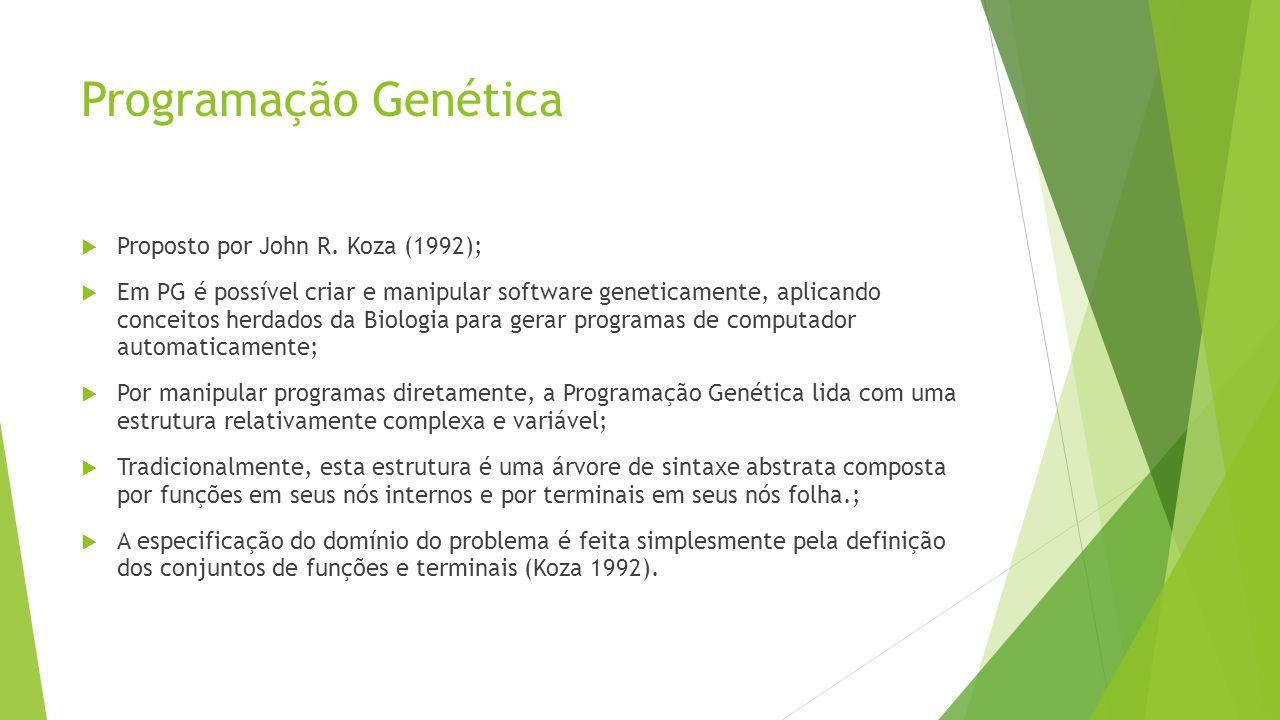 Programação Genética  Proposto por John R.
