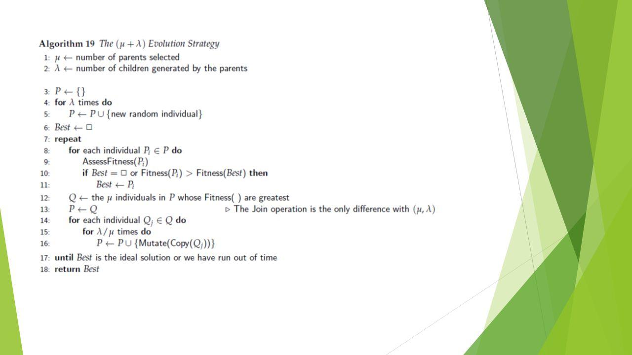 Principais diferenças entre AG e PG CaracterísticaAGPG Estrutura do indivíduo String (vetor) Árvores de sintaxe Tamanho do indivíduo FixoVariável Forma de representação Os indivíduos possuem representação fixa Os nós são funções ou terminais