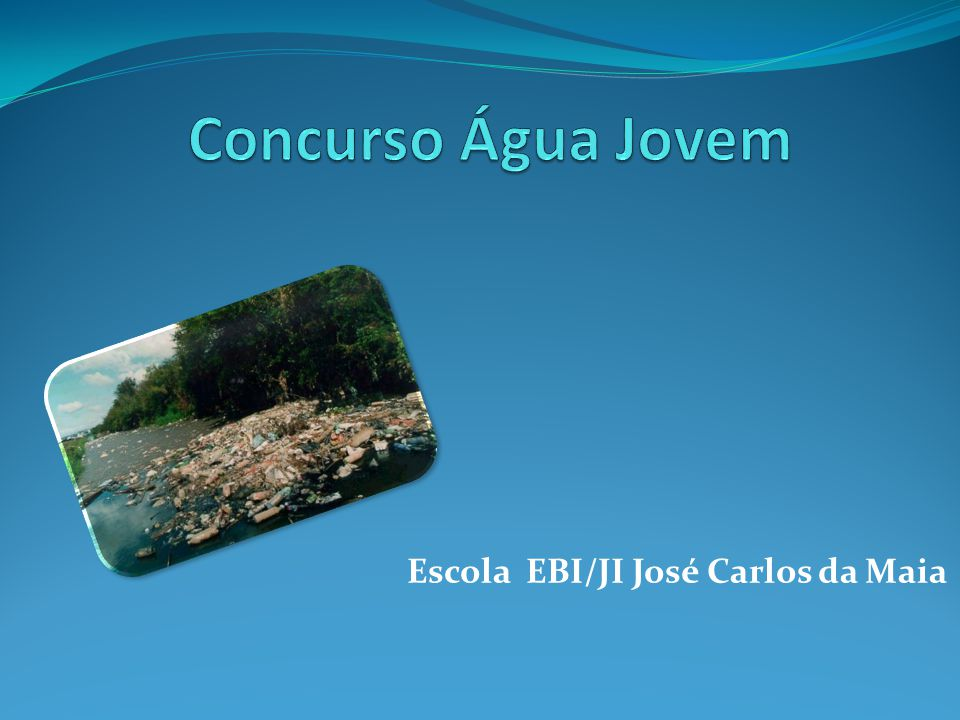 O tema do nosso trabalho é a Poluição da Água.