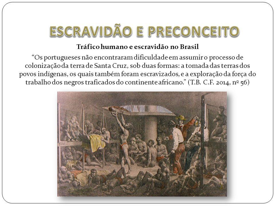 """Tráfico humano e escravidão no Brasil """"Os portugueses não encontraram dificuldade em assumir o processo de colonização da terra de Santa Cruz, sob dua"""
