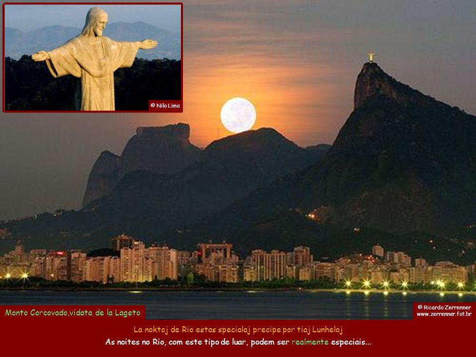 © Ciska Tobing Copacabana kaj Ruĝa Plaĝo, rigardataj de monto Sukerpano Rio prepariĝas por plia speciala vespero. O Rio se preparando para mais uma no