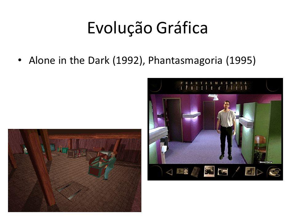 Evolução Gráfica • Alone in the Dark (1992), Phantasmagoria (1995)