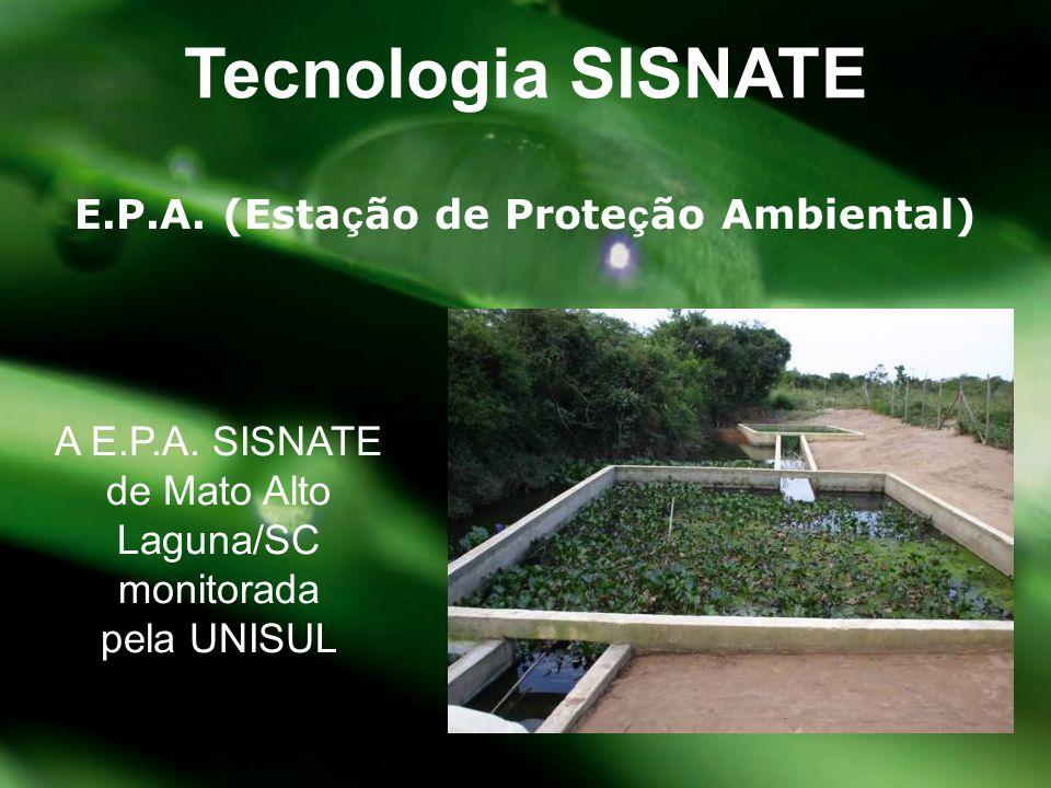 E.P.A. (Esta ç ão de Prote ç ão Ambiental) Tecnologia SISNATE A E.P.A. SISNATE de Mato Alto Laguna/SC monitorada pela UNISUL