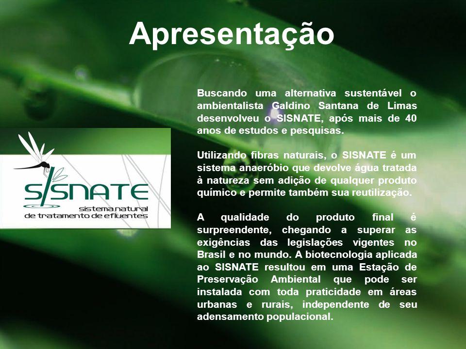 Buscando uma alternativa sustentável o ambientalista Galdino Santana de Limas desenvolveu o SISNATE, após mais de 40 anos de estudos e pesquisas. Util