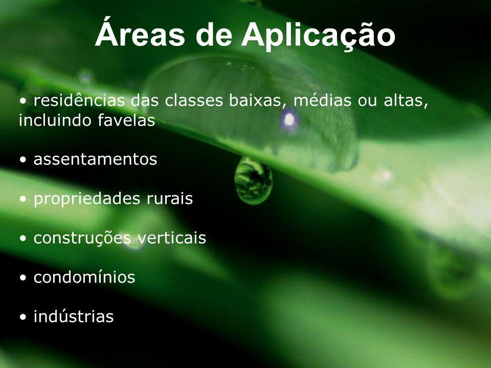 • residências das classes baixas, médias ou altas, incluindo favelas • assentamentos • propriedades rurais • construções verticais • condomínios • ind