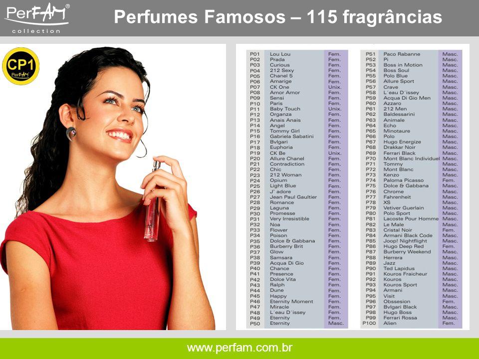 www.perfam.com.br Perfumes Famosos – 115 Fragrâncias