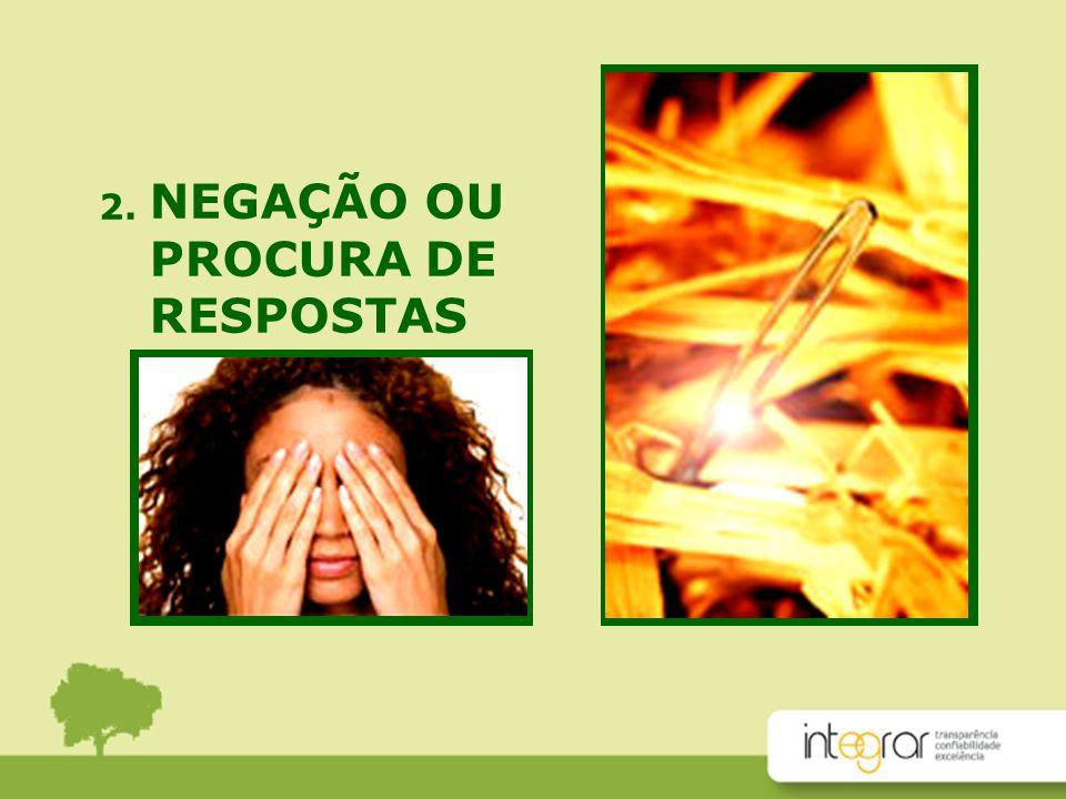 NEGAÇÃO OU PROCURA DE RESPOSTAS 2.