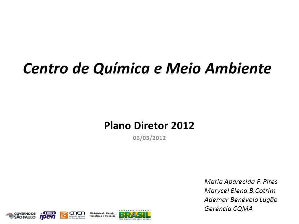 CQMA - Centro de Química e Meio Ambiente - Ano Base : 2012 Recursos Humanos Doutor dedic.