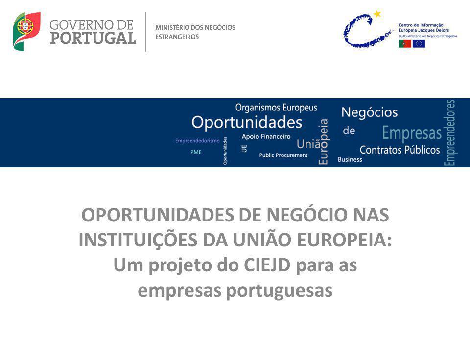 Quanto maior for o conhecimento destas oportunidades, mais possibilidades se abrem para as empresas nacionais.