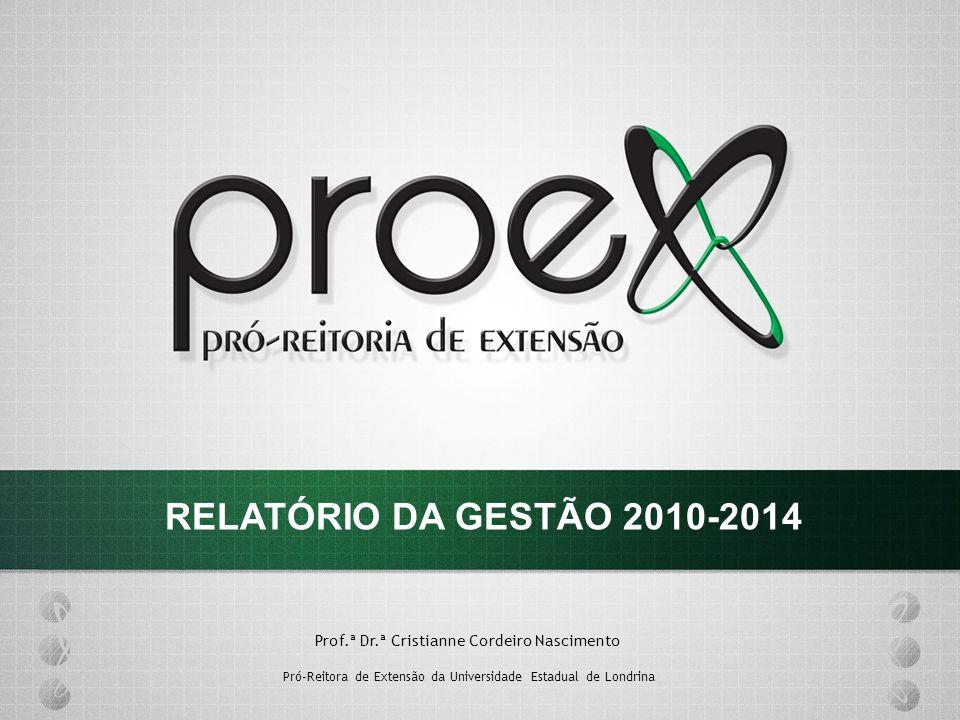 Prof.ª Dr.ª Cristianne Cordeiro Nascimento Pró-Reitora de Extensão da Universidade Estadual de Londrina RELATÓRIO DA GESTÃO 2010-2014